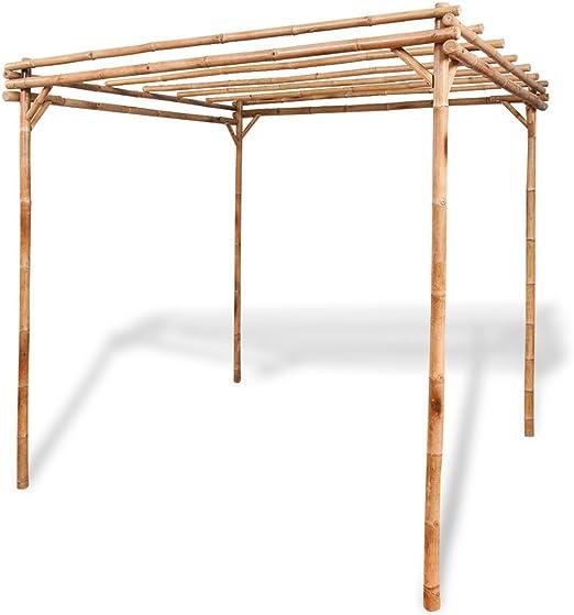 Anself bambú jardín pérgola muebles de jardín 2 x 2 x 2 m: Amazon ...
