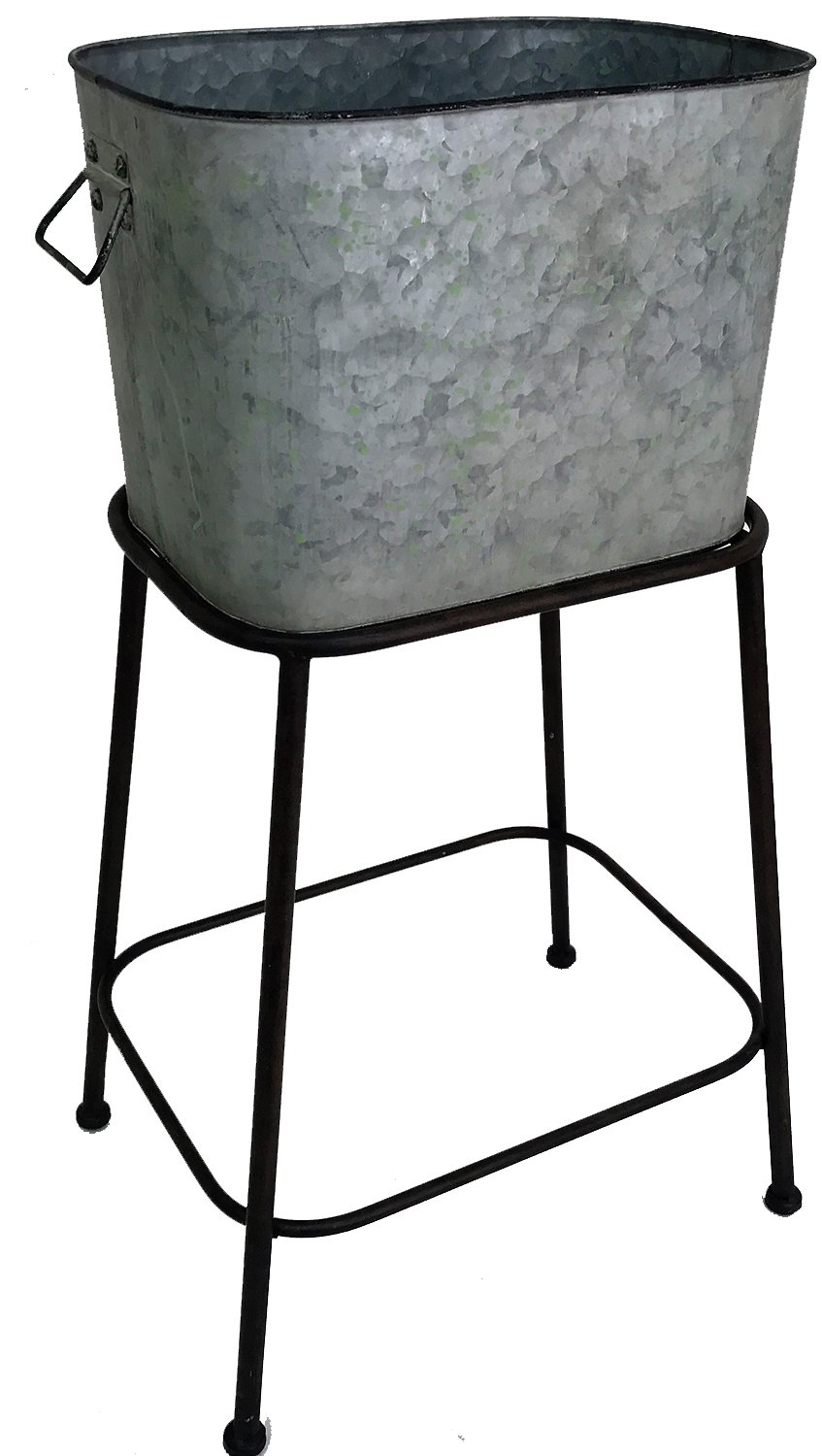 Galvanized Wash Tub With Stand Ice Bucket Planter Cheap