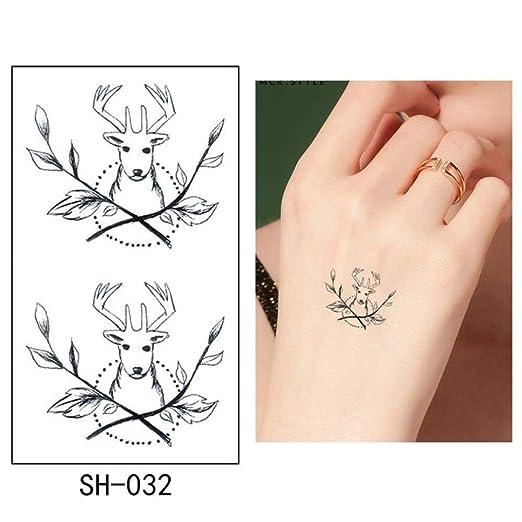 adgkitb 5pcs Tatuaje Temporal Pegatina pájaro Tatuaje Impermeable ...