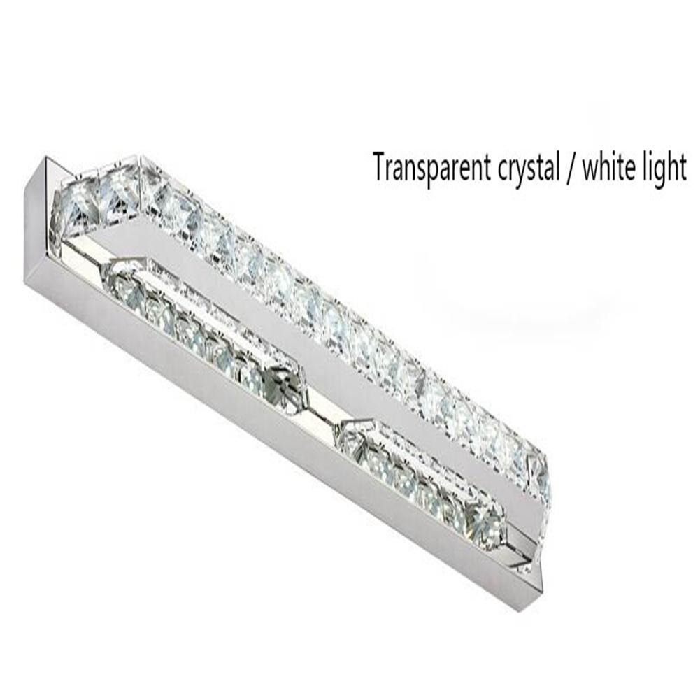 ZHY Crystal Mirror Headlights Fashion Simple LED Bedroom Bathroom Bathroom Mirror Lamp Luxury Lamps, A, 40cm by ZHY (Image #1)