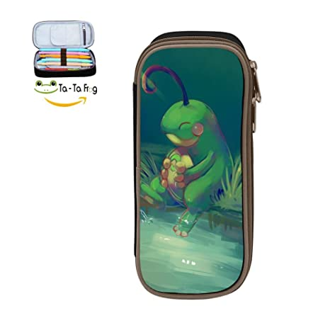 Amazon.com: Custom cute rana – Estuche gran capacidad doble ...