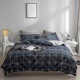 Jeanpop简璞 北欧简约格子纯棉四件套 床单款高支高密全棉床品套件 伯爵 1.5/1.8米床适用