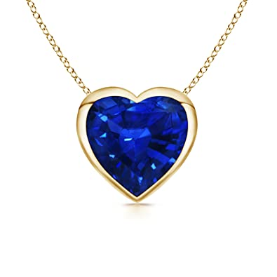 Angara Blue Sapphire Bezel-Set Pendant in Platinum oxja9vF