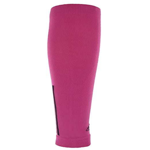 b77511291b adidas Compression Calf Sleeve, Intense Pink/Black, Large/X-Large