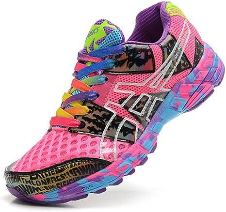 De la Mujer Acolchado Gel Noosa Tri 8 Trail Carretera Running Sport Competencia de Carreras de Zapatos Calzado Zapatillas en Camuflaje Rosa Morado, Mujer, Camouflage Rose Purple: Amazon.es: Deportes y aire libre