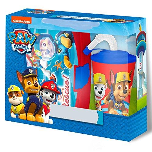 7ec01c23eaf48 grosses soldes Disney Pat Patrouille Set Boîte Sandwich+ Verre De Tige,  PW16442