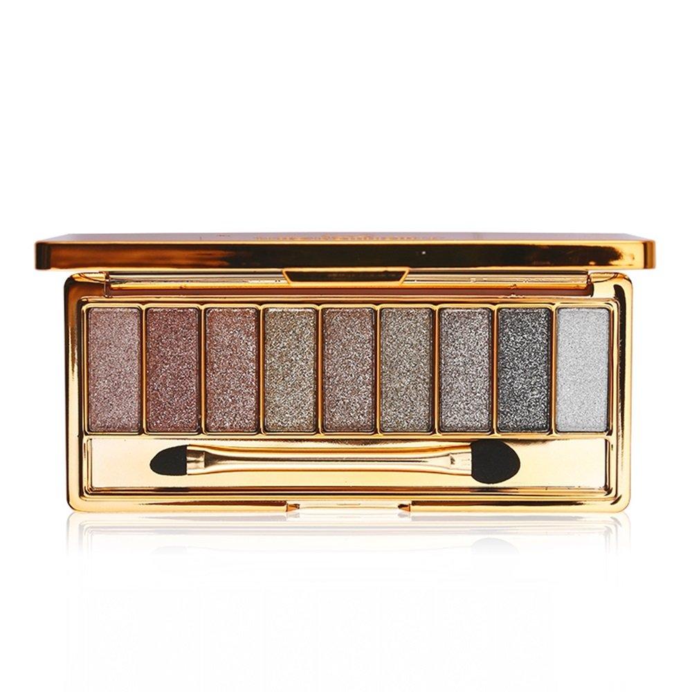 9 Color Glitter Eyeshadow Palette Powder - Long Lasting Diamond Bright Makeup Set