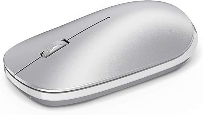 OMOTON Mouse for iPad and Phone ( iPadOS 13 / iOS 13 and Above), Ultra-Thin Wireless Mouse Compatible with Computer, Laptop, PC, Notebook, and Mac Series, Silver
