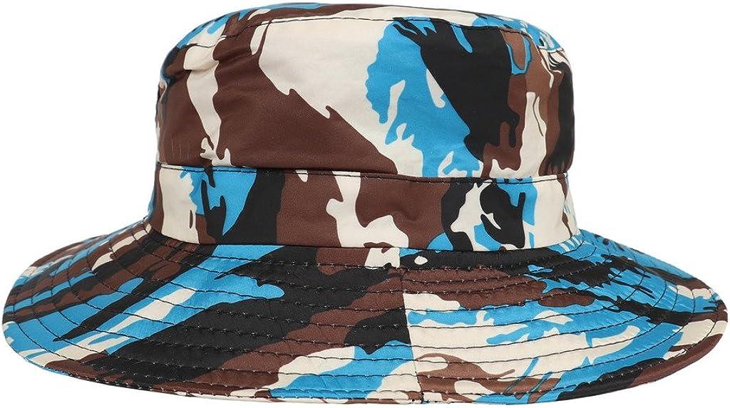 COMVIP Unisex Children Sun Adjustable Camouflage Bucket Hat