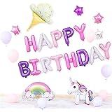 誕生日 飾り付け(30点セット)バースデー 飾りセット 風船 華やか かざりつけ 星 ポンプ付き 1歳 お祝い