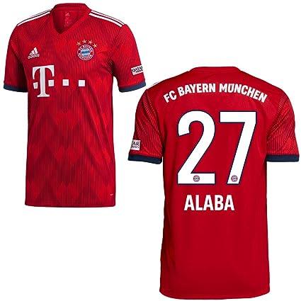 FanSport24 Original FC Bayern Munich FCB Home Jersey 2018 2019 Home Shirt  Kids Alaba 27 Size 8ad01b183