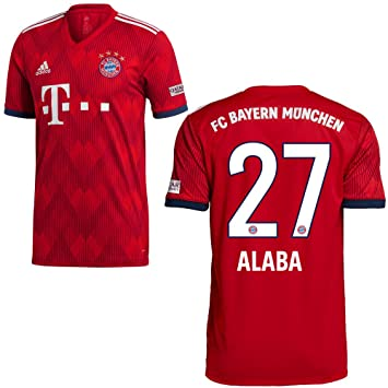 33f42a9a964870 adidas FC Bayern Trikot Home 2018 2019 mit Spieler Name  Amazon.de ...