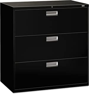 product image for HON 693LP Three-Drawer Lateral File, 42w x 18d x 39 1/8h, Black File Cabinet, Sold as 1 Each
