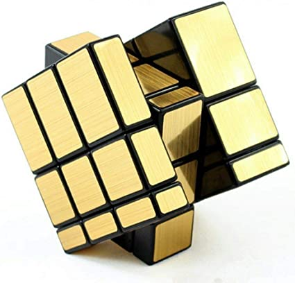 CocoRio Mirror Cube 3x3 Rubik Cube High Speed Brainstorming Puzzle Game Toy Silver & Golden Colours (Gold)