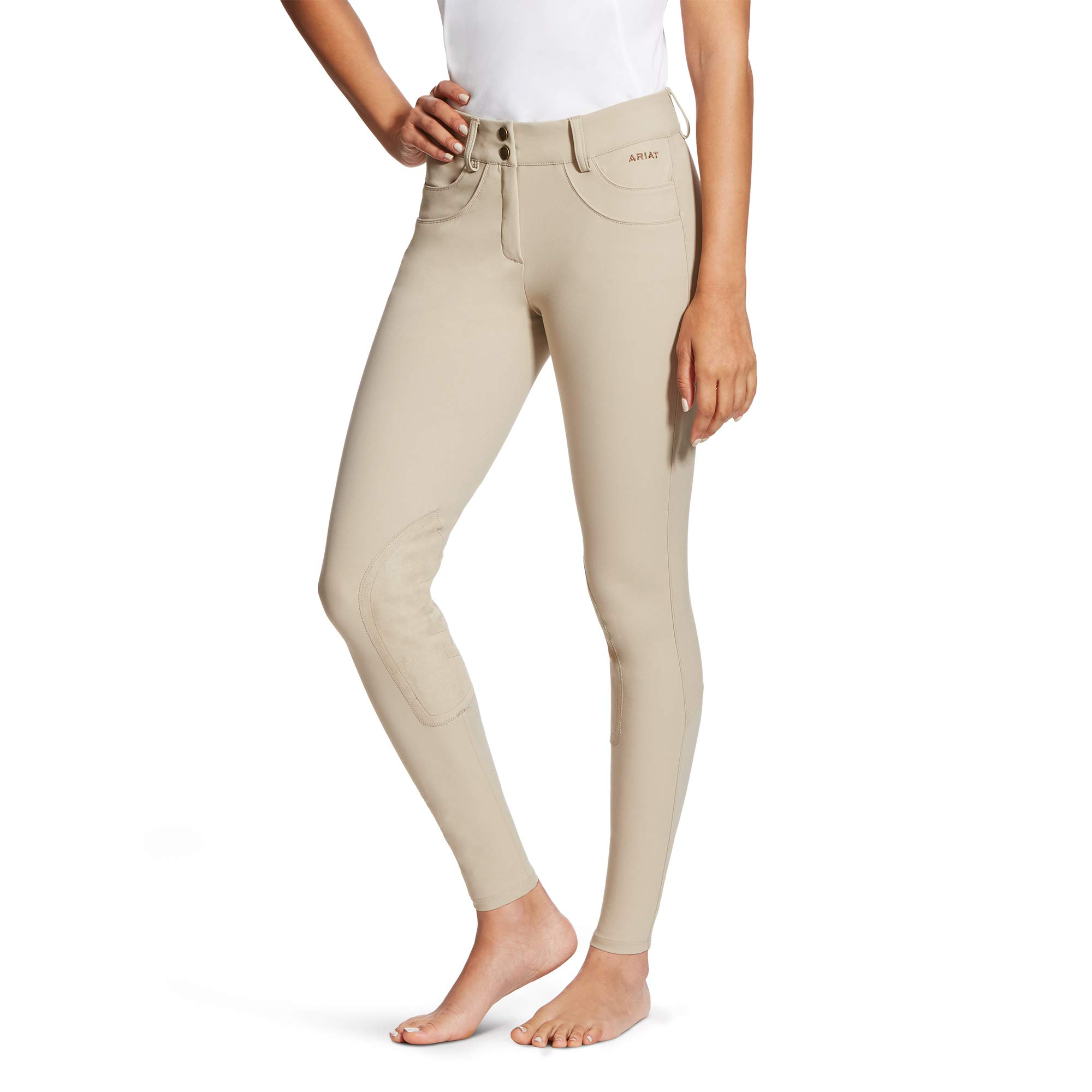 ARIAT Women's Olympia Knee Patch Breech Tan Size 24 Regular