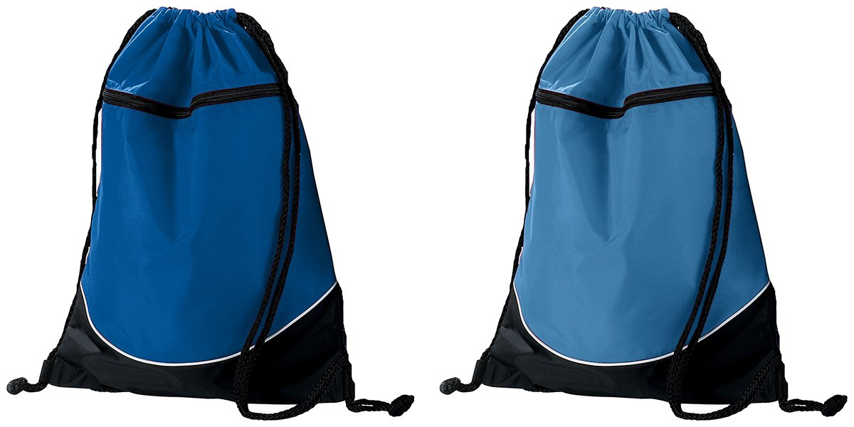 Augusta Sportswear 3色ドローストリングバックパック B00JDM82Y2 One Size|2 PACK - ROYAL- COLUMBIA BLUE 2 PACK  ROYAL COLUMBIA BLUE One Size