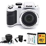 Kodak PIXPRO Astro Zoom AZ421 16MP Digital Camera (White) with Kodak 32GB SD Card