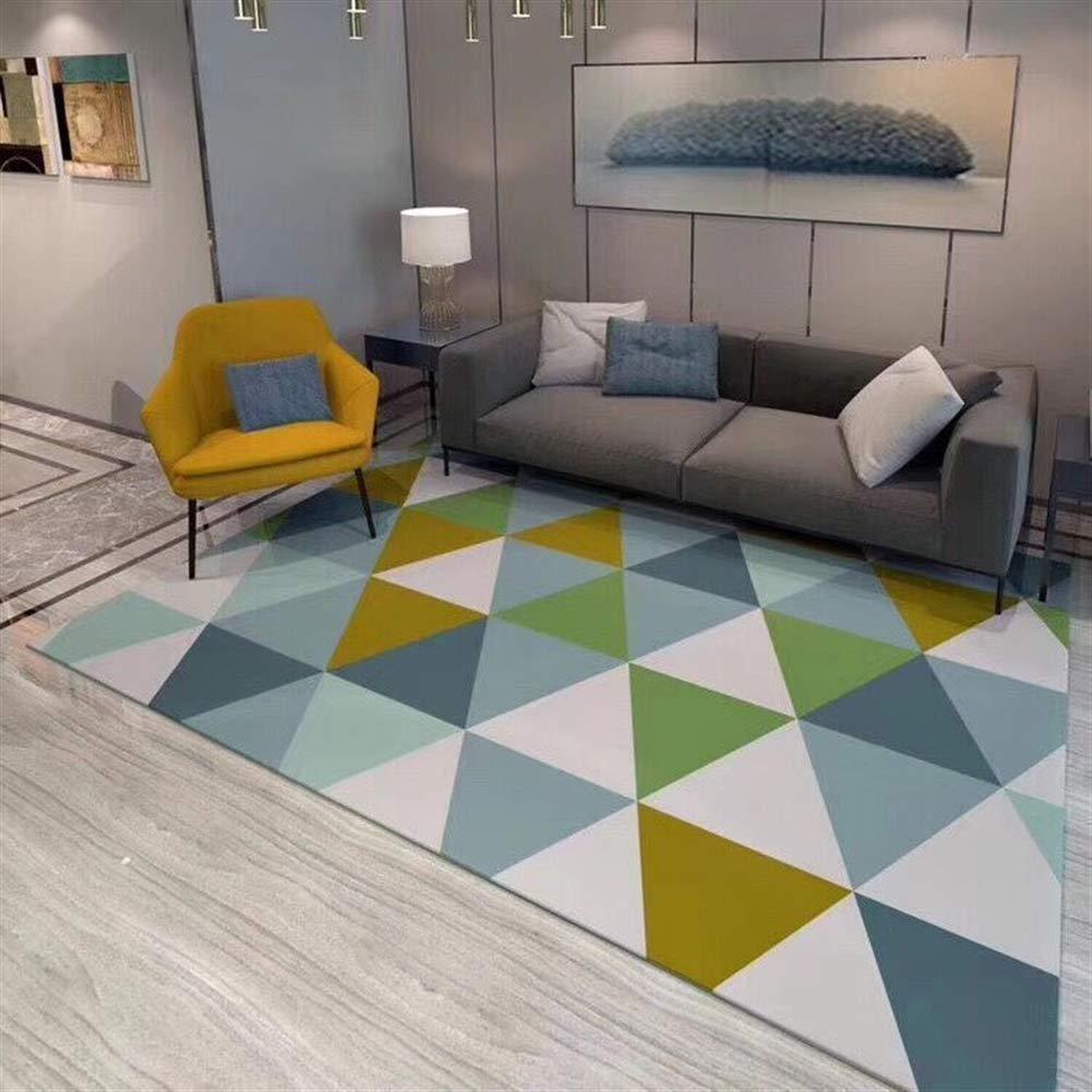 Liveinu Modern Teppich Teppich Teppich mit Anti-Rutsch Unterstützung Abwaschbarer Kurzflor Teppich Geometrisch Fußmatten für Wohnzimmer, Esszimmer, Schlafzimmer oder Kinderzimmer 120x160cm B07GGSJKB5 Teppiche 6c71be