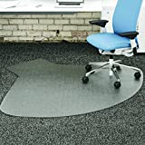 deflecto CM14003K SuperMat Frequent Use Chair Mat Medium Pile Carpet Straight 60x66 w/Lip Clear