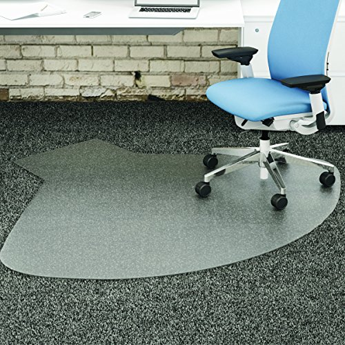 Supermat Vinyl (deflecto CM14003K SuperMat Frequent Use Chair Mat Medium Pile Carpet Straight 60x66 w/Lip Clear)