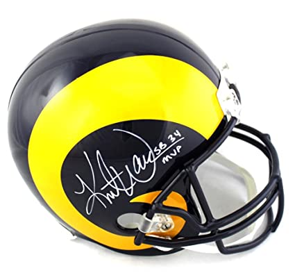 af72cfc26eb Kurt Warner Signed St. Louis Rams Throwback Full Size Helmet with quot SB  34 MVP quot