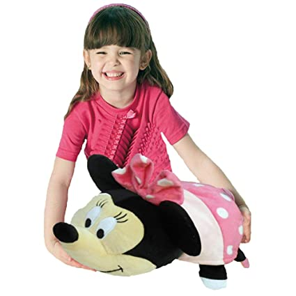 e1eca2871df4d NEW! FlipaZoo Disney (MICKEY MOUSE + MINNIE MOUSE) 2-in-1 Stuffed Animal  Appr 14