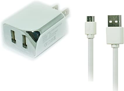 2.1A Wall Home Charger+USB Cable Cord for Samsung Galaxy Tab//Tab2 Tab 2 7 Tablet