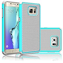 S6 Edge Plus Case,EC™ Slim Shockproof Case Cover, Hybrid Armor Dual Layer Defender Protective Case Cover for Samsung Galaxy S6 Edge Plus (Emerald/Gray)