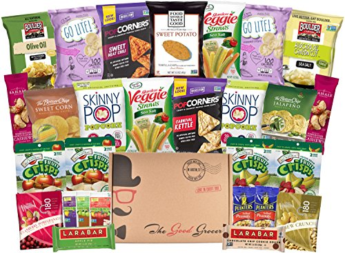 Gluten Free and Vegan Healthy Snacks Care Package (28 Count) (Soup Gift Basket Ideas)