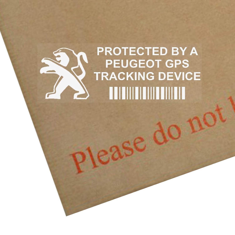 adesivi per finestrino, protezione dispositivo di tracciamento Peugeot GPS, 87 x 30 mm-108,208,308,508,106,206,207 5 Platinum Place