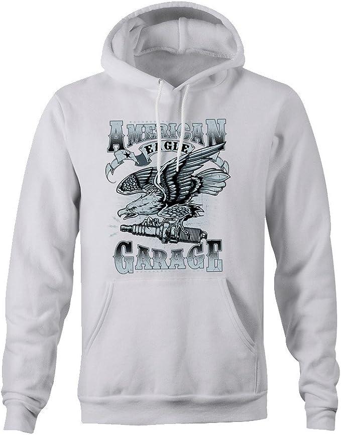 American Eagle Garage Hoodie - White - Medium: Amazon.es: Ropa y ...