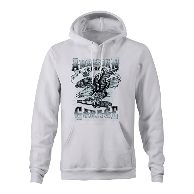 American Eagle Garage Ladies Hoodie - White - Medium: Amazon.es: Ropa y accesorios