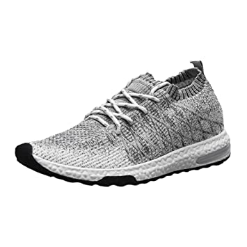 Yao Comfortable Mens Breathable Shoes Fashionable Walking Casual Sneakers Shoes White 44# Donna