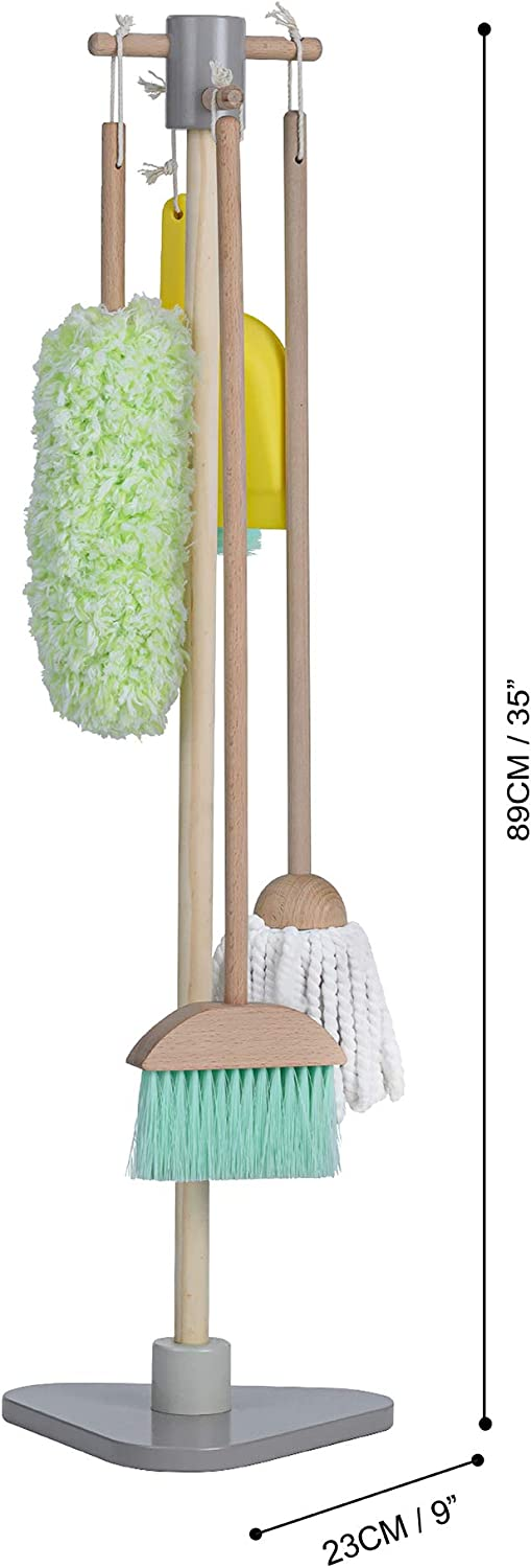 Teamson Kids Little Helper Cleaning Play Set with 6 Accessories Multi TK-W00005