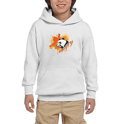 Angry Panda Teen Boys Pullover Hoodie Athletic Pocket Sweatsuit