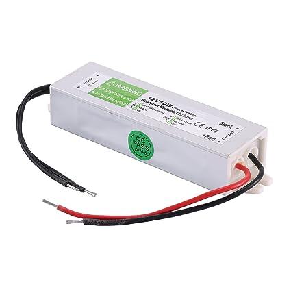 coolm 12v 0 83a 10w waterproof ip67 led power supply transformer 12vcoolm 12v 0 83a 10w waterproof ip67 led power supply transformer 12v dc output, 90v 250v amazon com