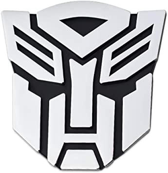 Transformers Autobot Pegatina 3d cromado para coche,/tama/ño grande