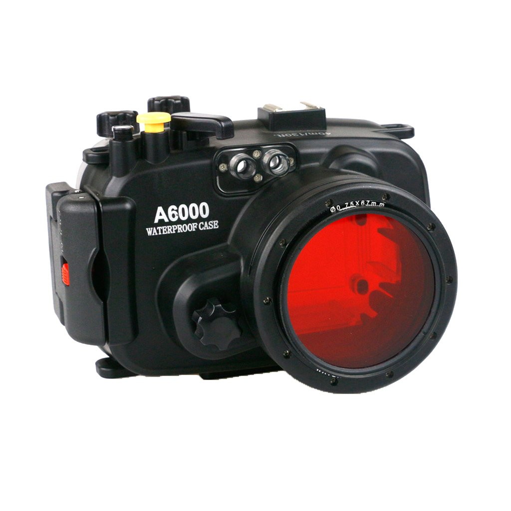 SONONIA 16-50mmレンズ 40 m 防水 カメラ ハウジングケース カメラアクセサリー ソニーA6000に対応   B077B3Z2HH