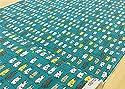 猫柄 生地【ターコイズブルー】 洗濯にゃんこ 綿麻キャンバス コットンリネン 干されたネコ 動物 アニマル ねこ 猫 ネコ 布 布地 手芸【1m単位】の商品画像