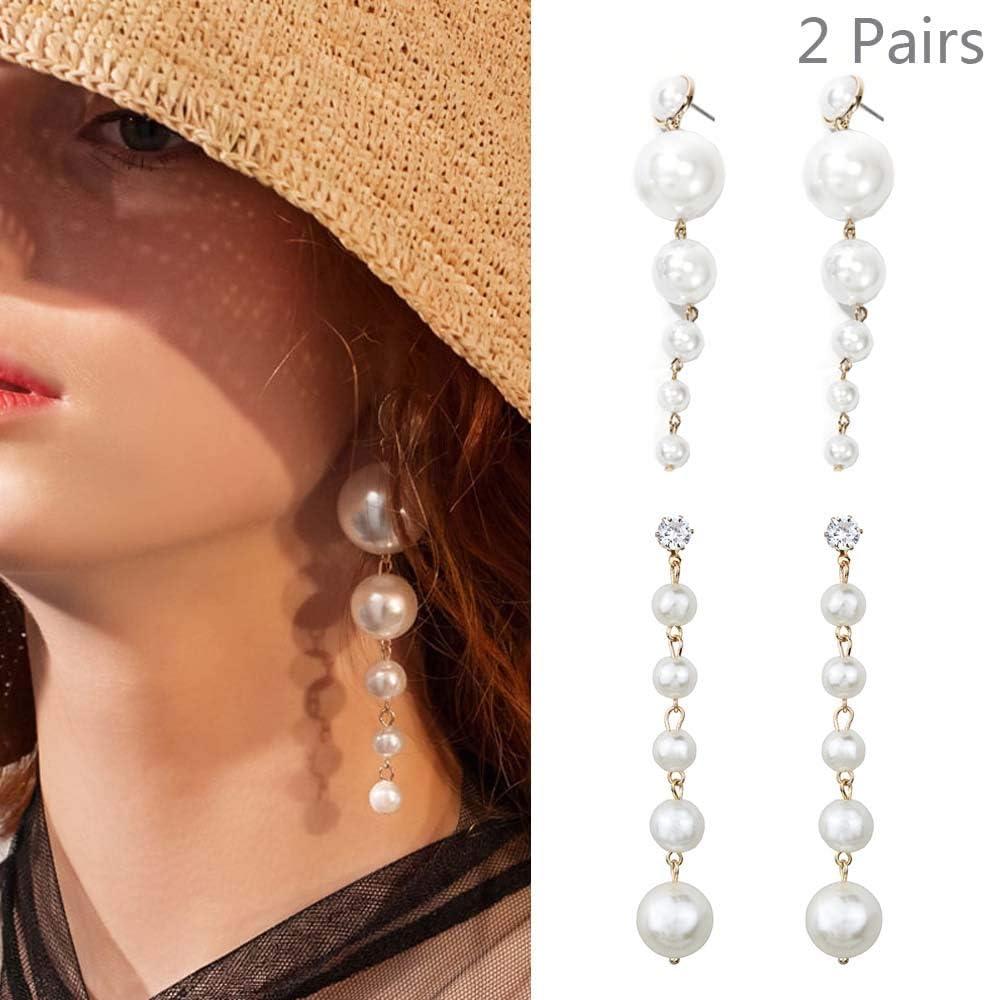 Earrings with pearls in sterling silver minimal earrings wedding accessory women/'s earrings with pearls elegant jewel