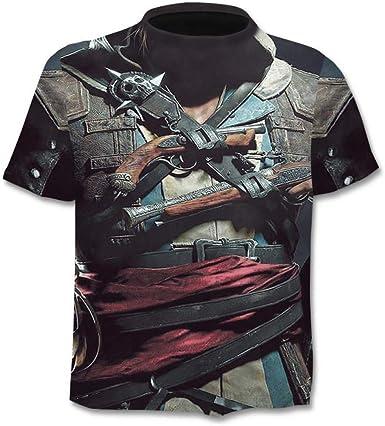 HYTR - Camiseta 3D para hombre, diseño de calavera Multicolor ...