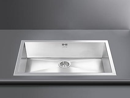Smeg VQ72-2 Quadra Single Bowl Ultra Low Profile Sink in Stainless ...