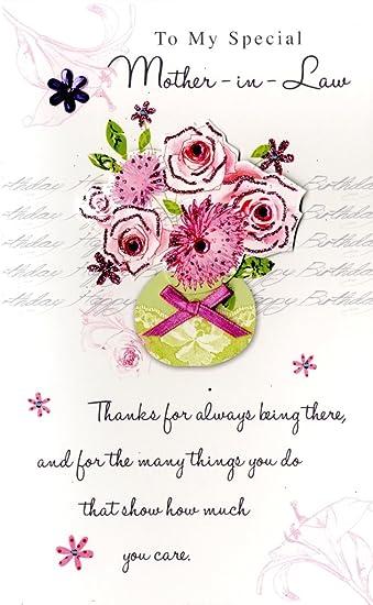 Amazon.com: poema esquina Feliz cumpleaños suegra tarjeta de ...