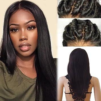Perruque Lace Front Femme Vrai Cheveux Naturel