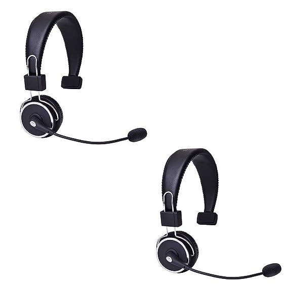 55bda40f850 BLUE TIGER Elite Premium Bluetooth Headset (Package of 2) - Retail  Packaging - Black