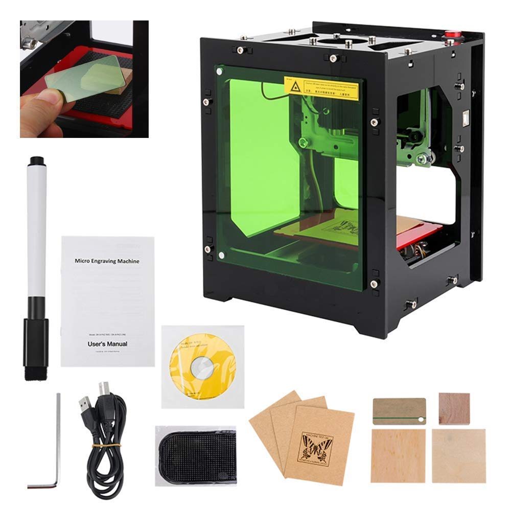 Laser Engraver Printer, 1500mW DIY USB Mini Engraving Machine, CNC Router Cutting Carver Off-line Operation for Art Craft Science, High Speed Laser Engraving Cutter by Tsemy (Image #8)