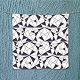 AuraiseHome travel towel with triangles. stylish texture. Vector wallpaper, background Moisture Wicking W13.8 x W13.8