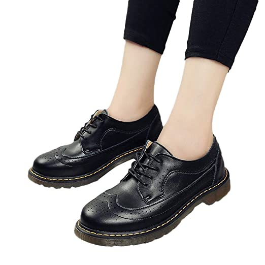 7ea1e5565711 Back to School Retro Brock Shoes Classic Oxford College Lace Up British for  Women Teen Girls