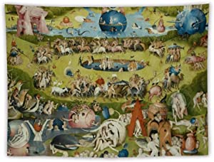 The Garden of Earthly Delights - Hieronymus Bosch Apron Wall Tapestry Apestry Album 3D Wall Hanging Art Home Decor Wave Tapestries