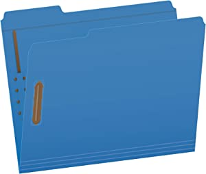 Pendaflex Fastener Folders, 2 Fasteners, Letter Size, Blue, 1/3 Cut Tabs in Left, Right, Center Positions, 50 per Box (22040GW)